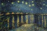 ローヌ河畔の星空(1888年) ポスター : フィンセント・ファン・ゴッホ