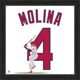 Yadier Molina, Cardinals representation of player's jersey Framed Memorabilia