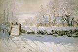 Claude Monet - Saksağan, 1869 - Reprodüksiyon