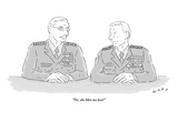 """No, she likes me best!"" - New Yorker Cartoon Premium Giclee Print by Kim Warp"