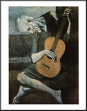 Stary gitarzysta, ok. 1903 Umocowany wydruk autor Pablo Picasso