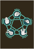 Rock Paper Scissors Lizard Spock Photo by Snorg Tees 