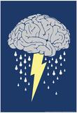 Tempesta cerebrale Poster di  Snorg Tees