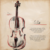 Cello Posters van  Hakimipour-ritter