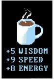 Kaffeelementer, Coffee Points, på engelsk Posters af  Snorg Tees