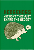 Hedgehogs Prints by  Snorg Tees