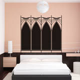 Art Deco Headboard (Double) Wall Decal