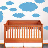 Happy Little Clouds (x12) Wall Decal