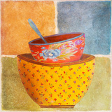 Collage Bowls II Art by Patricia Quintero-Pinto