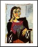 Portrait of Dora Maar, c.1937 Druck aufgezogen auf Holzplatte von Pablo Picasso