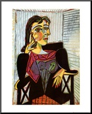 Portrait of Dora Maar, c.1937 Mounted Print by Pablo Picasso