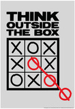 Think Outside The Box Poster af  Snorg Tees