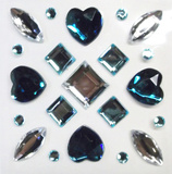 Teal Gems Wall Decal