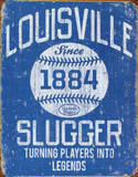 Louisville Slugger - Blue Placa de lata