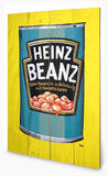 Heinz Vintage Beans Can Cartel de madera