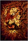 Fire Tiger Reprodukcje autor Tom Wood