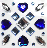 Blue Gems Wall Decal
