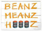 Heinz - Beanz Meanz Wood Sign Cartel de madera