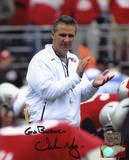 "Urban Meyer Ohio State Buckeyes with ""Go Bucks""  Autographed Photo (Hand Signed Collectable) Photographie"