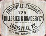 Louisville Slugger - 125 Logo Tin Sign