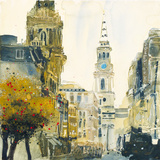 St. Martin's Lane, London Giclee Print by Susan Brown
