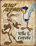 Road Runner & Wyle E Coyote Placa de lata