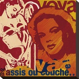 Ou Couche Stretched Canvas Print by Paul Raynal
