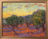 Grove of Olive Trees, 1889 Framed Giclee Print by Vincent van Gogh