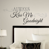 Always Kiss Me Goodnight Peel & Stick Wall Decals Adesivo de parede