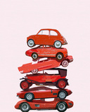 Car Stack II Giclee Print by Ben James