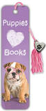 Puppies Love Books Beaded Bookmark Bookmark