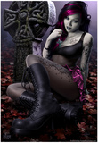 Goth Girl Poster by Tom Wood