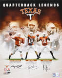 Vince Young, Colt McCoy, Major Applewhite Texas Longhorns Autographed Photograph Photo