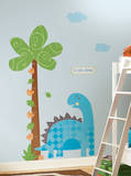 Babysaurus Peel & Stick Growth Chart - METRIC Wall Decal