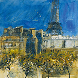 9th Arrondissement, Paris Giclee Print by Susan Brown