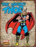 Thor - Retro Cover Panels Placa de lata