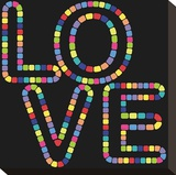 Love-In Stretched Canvas Print by Mali Nave