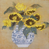 Sun Flowers Giclee Print by Cai Xiaoli