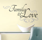 Family is Love Peel & Stick Wall Decals Vinilo decorativo