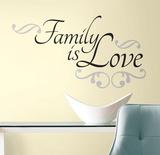 Family is Love (sticker murale) Decalcomania da muro
