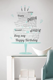Happy Birthday Beatles Quote Peel &amp; Stick Wall Decals Wall Decal