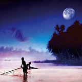 Children Fishing Giclee Print by Jurek Nems