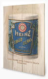 Heinz - Vintage Beans Can Wood Sign Cartel de madera