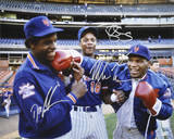 Dwight Gooden/Darryl Strawberry/Mike Tyson Autographed Photograph Photo
