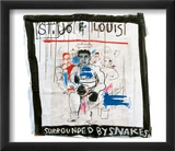 St. Joe Louis Surrounded by Snakes, 1982 Posters by Jean-Michel Basquiat