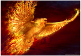 L'envol du phoenix Affiche par Tom Wood