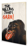 Rolling Stones-Grrr Wood Sign