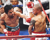 Manny Pacquiao Autographed vs Miguel Cotto Photograph with &quot;Pacman&quot; Inscription Photo
