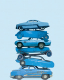 Car Stack I Giclee Print by Ben James