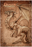 Dragon Parchment Prints by Tom Wood